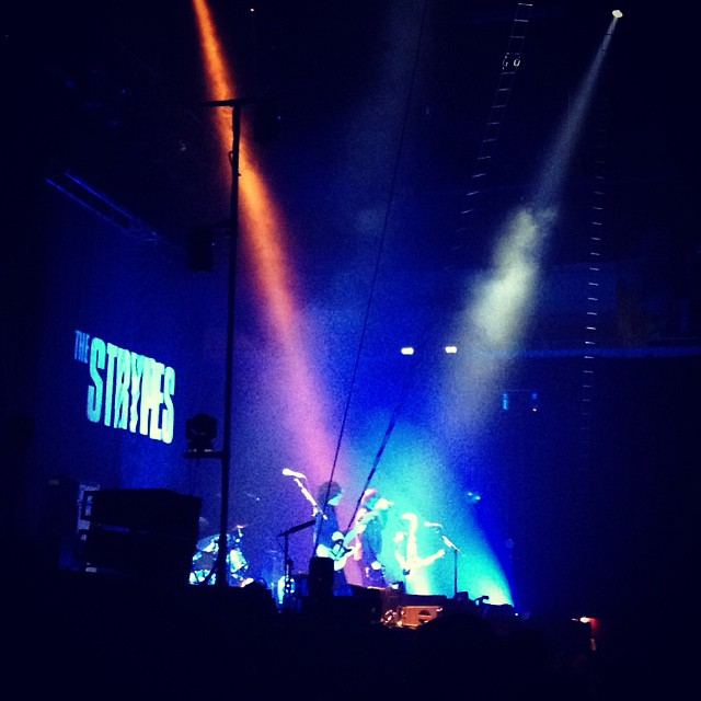 The Strypes @ Earls Court, supporting Arctic Monkeys. These lyolyos are gonna be huge :) #latergram