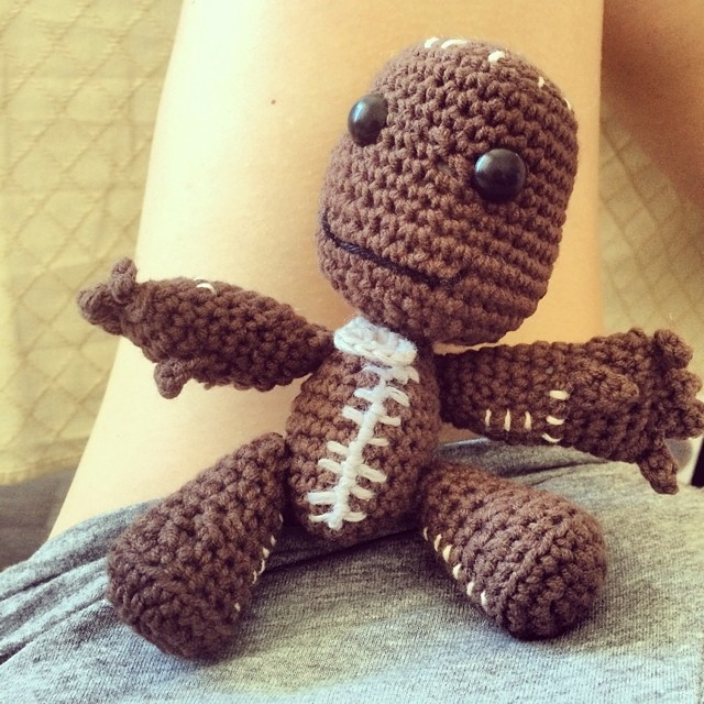Sack Boy by @totallyhookedtoys . A special order for @kirkerona. I want one too... #totallyhookedtoys #handmade #crochet #toys