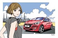Znany artysta mangi współpracuje z Peugeotem
