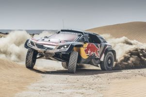 Peugeot 3008 DKR Maxi na podium rajdu Dakar