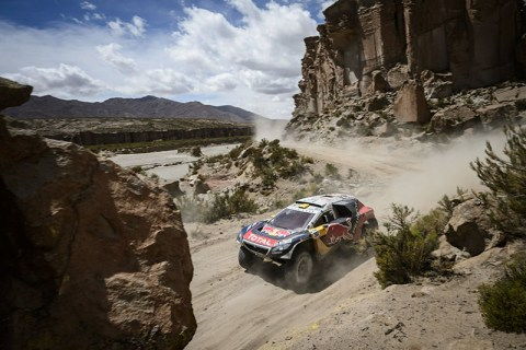 Stephane Peterhansel (FRA) of Team Peugeot-Total races during stage 04 of Rally Dakar 2016 around Jujuy, Argentina on January 6, 2016 // Marcelo Maragni/Red Bull Content Pool // P-20160106-00141 // Usage for editorial use only // Please go to www.redbullcontentpool.com for further information. //