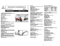 Peugeot Metropolis manuals and documents