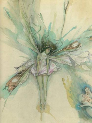 Dessins illustrations peintures de f es elfes lutins brian froud f es elfes lutins - Dessin elfes et fees ...