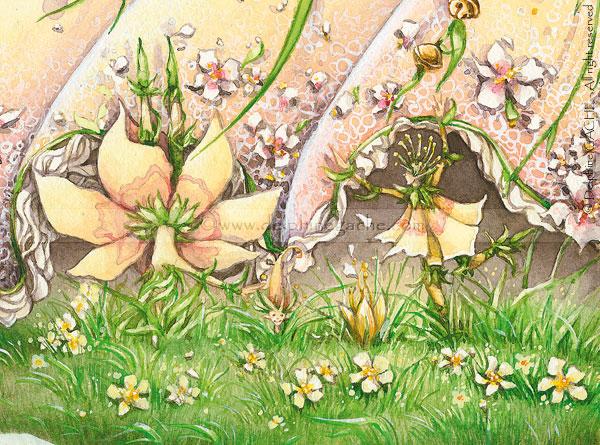 Dessins illustrations peintures de f es elfes lutins delphine gache f es elfes lutins - Dessin elfes et fees ...