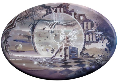 toile CERCLE FEERIQUE forme ovale 30p 2011 Thierry Mordant 1000pl