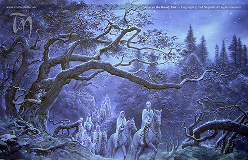 Elves in the Woody End, by Ted Nasmith