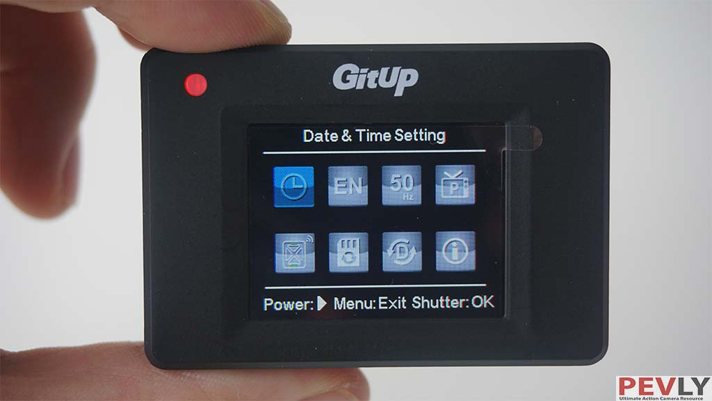 GITUP GIT2 camera user interface menu