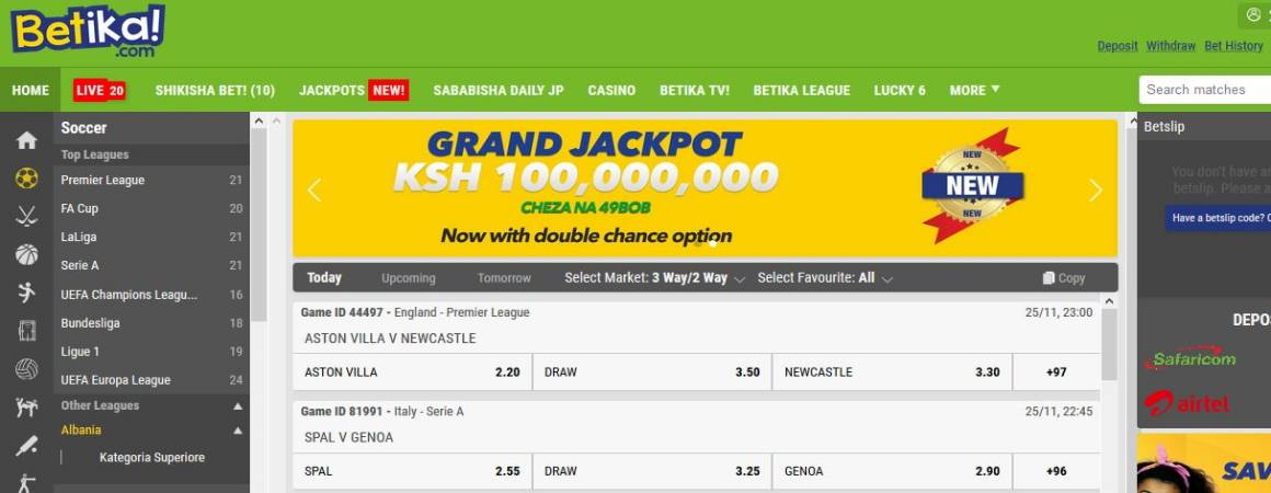 Betika Grand Jackpot Results, Bonuses and Winners