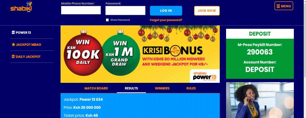 Shabiki Power 13 Jackpot Results, Bonuses and Winners
