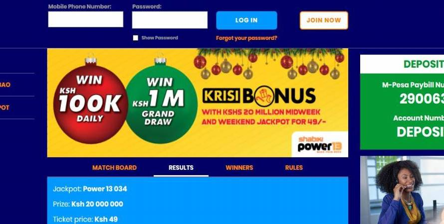 14th & 15th December 2019 Shabiki Power 13 Weekend Jackpot Results, Bonuses and Winners