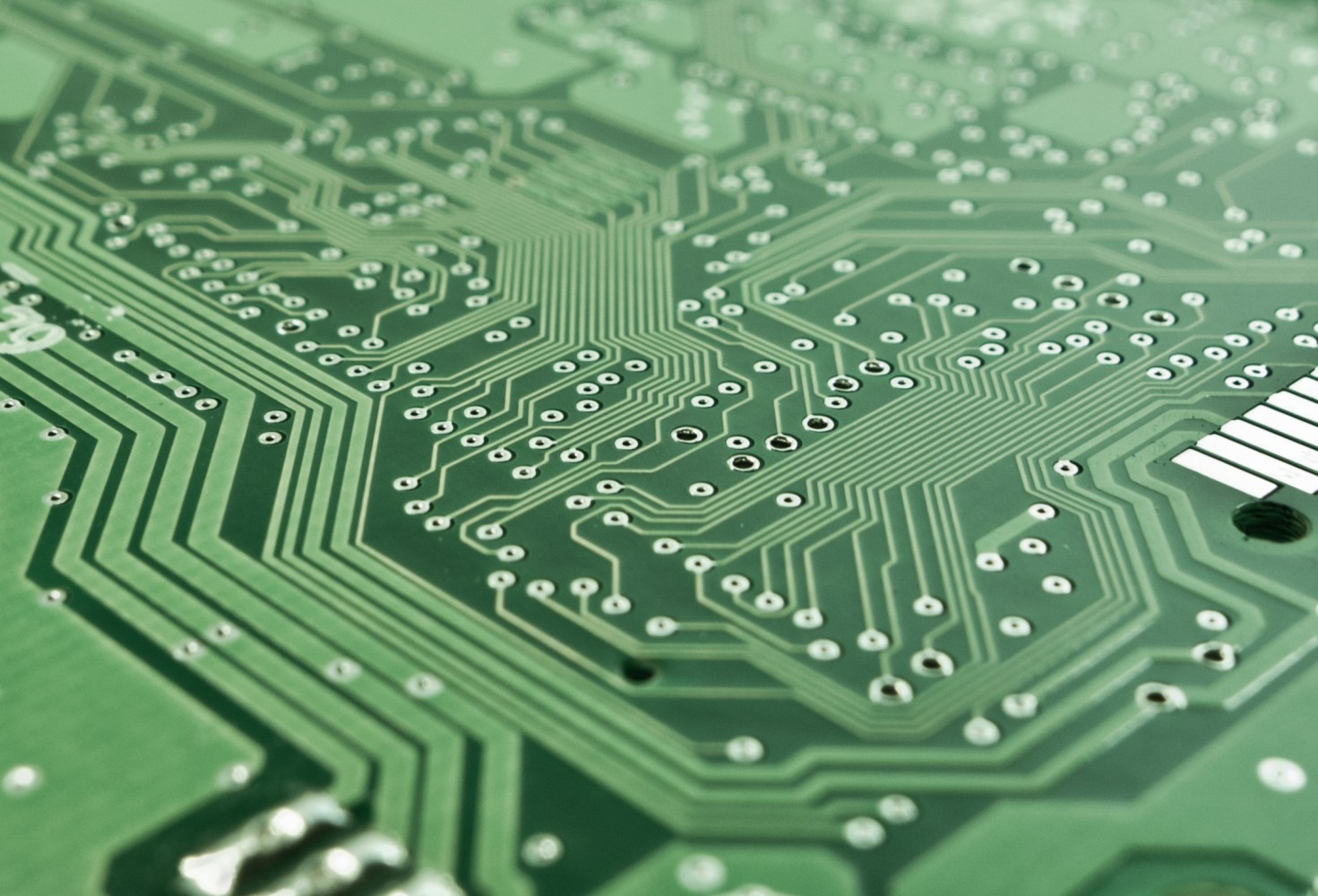 Free Stock Photography Circuit Board With Electronic Components