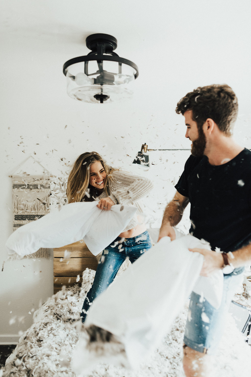 , In Home Pillow Fight Session