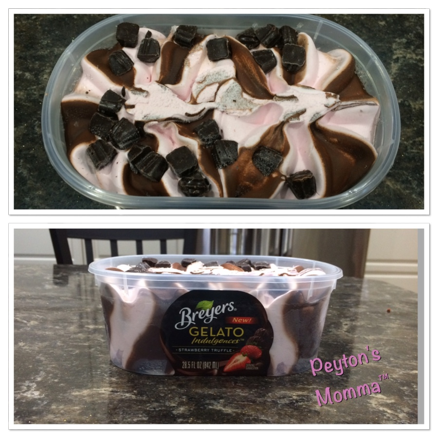 Breyers Strawberry Truffle Gelato