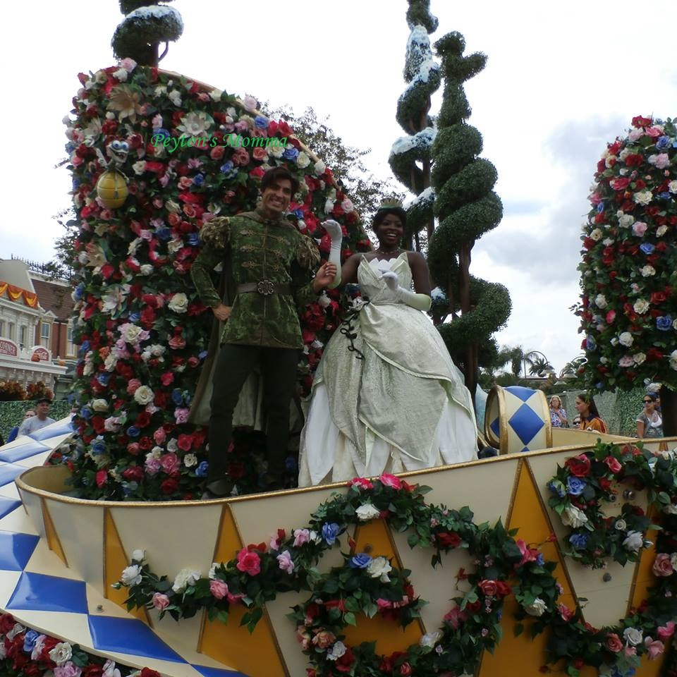 Prince Naveen and Tiana at Disney World