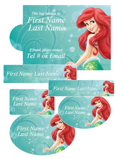 Label Daddy Little Mermaid Camp Labels