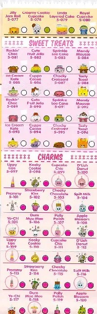 Season 5 Shopkins Sweet Treats Charms