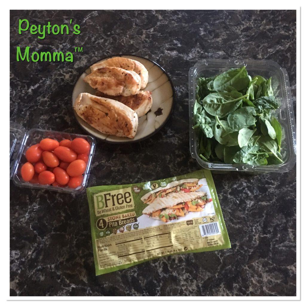 BFREE Chicken Pita Ingredients