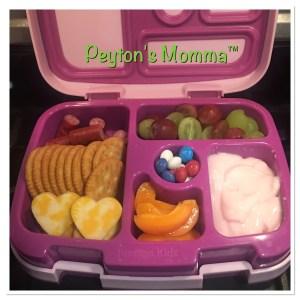 Cheese Hearts and Turkey Bites Bento Box