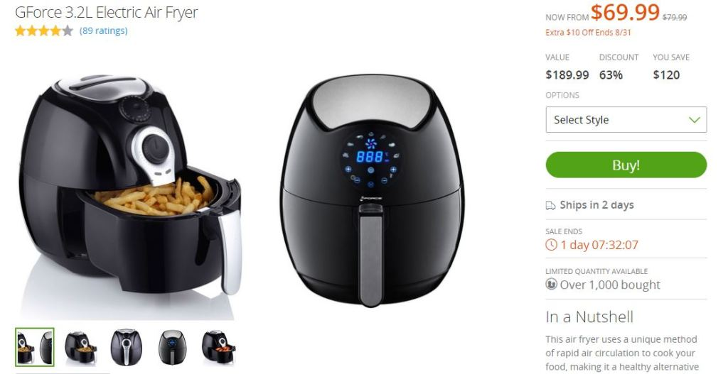 Groupon Good Electric Fryer