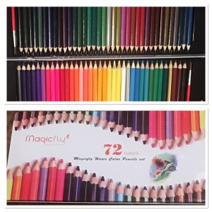 Magicfly 72-Colored Pencil Set with 2 Brushes and Free Metal Tin Case, Premier Soft Core Art Watercolor Pencil Pencils