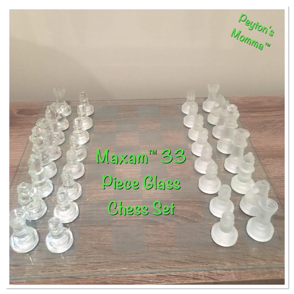 Maxam 33 piece Glass Chess Set