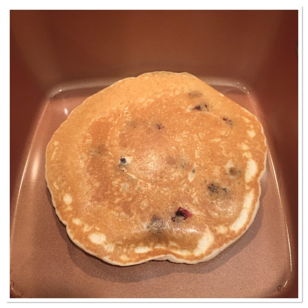 Blueberry Pancakes in the Copper Chef Square Pan