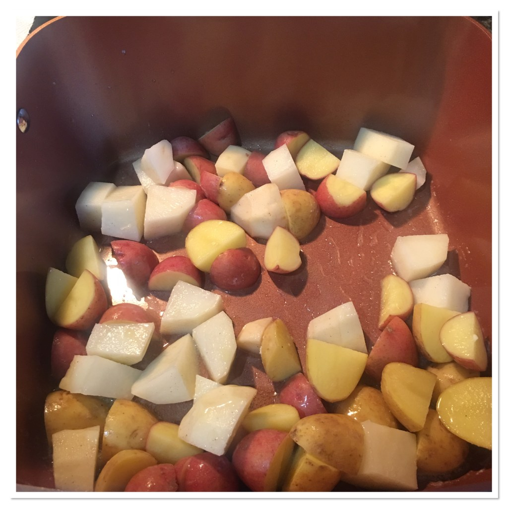 Roasted Potatoes in the Copper Chef Pan
