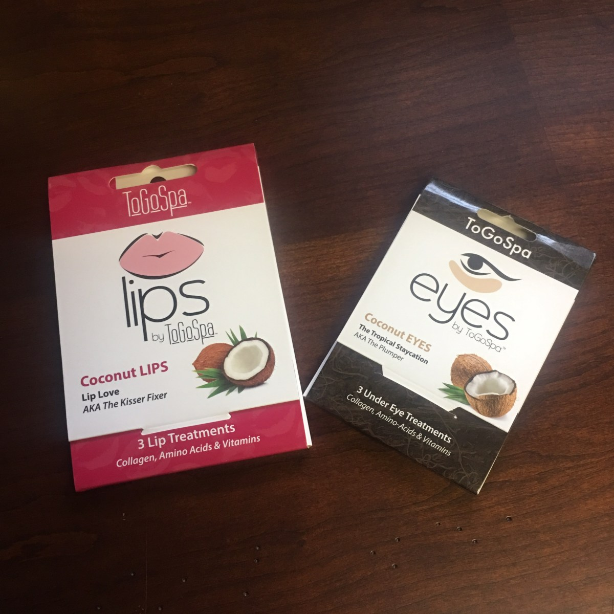 ToGoSpa Lip and Eye Masks