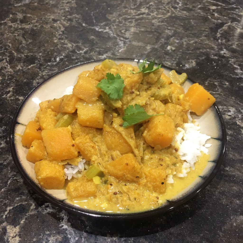 Blue Apron South Indian Squash Curry