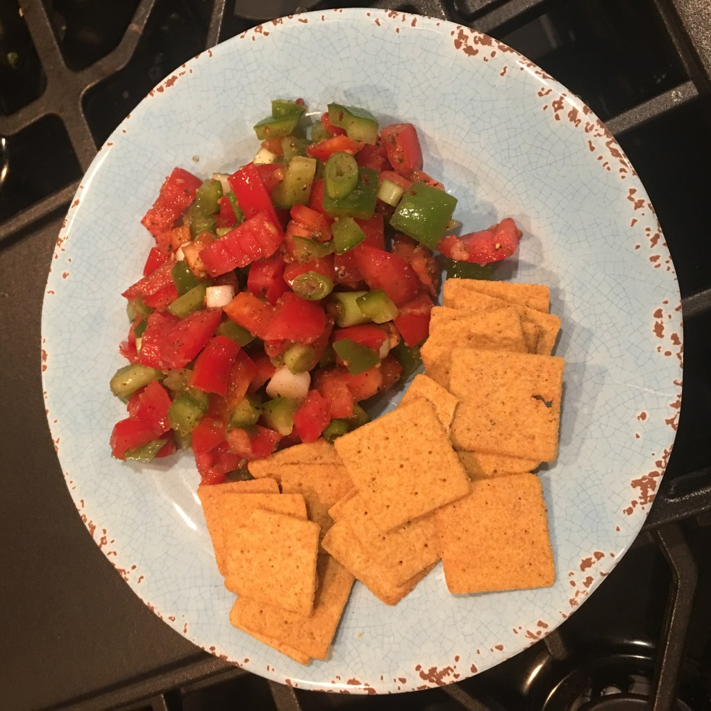 Chunky Salsa and Wheat Thins