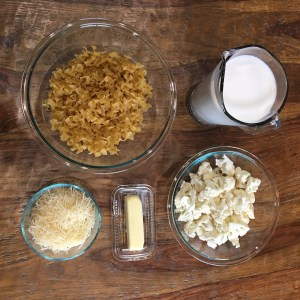 Ingredients for Creamy Cauliflower Alfredo