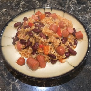 Dirty Red Beans and Rice with Klement's Sausage