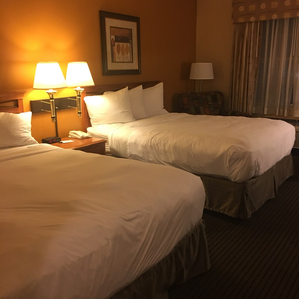 Standard room with 2 queen size beds at the Country Inn and Suites
