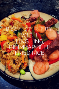 Beef and Pepper Stir Fry with Ling Ling Bibimbap Beef Fried Rice