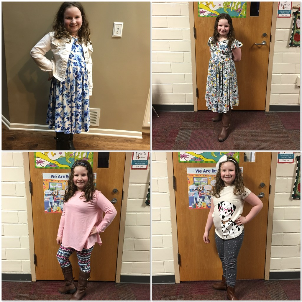Peyton the Fashionista showing off this weeks outfits