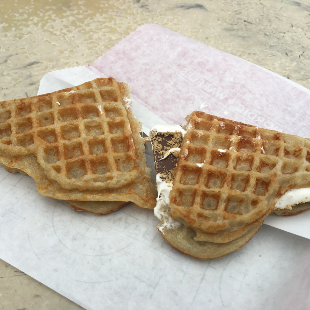 S'more Waffle from Nordic Waffle at Valleyfair Shakopee Minnesota