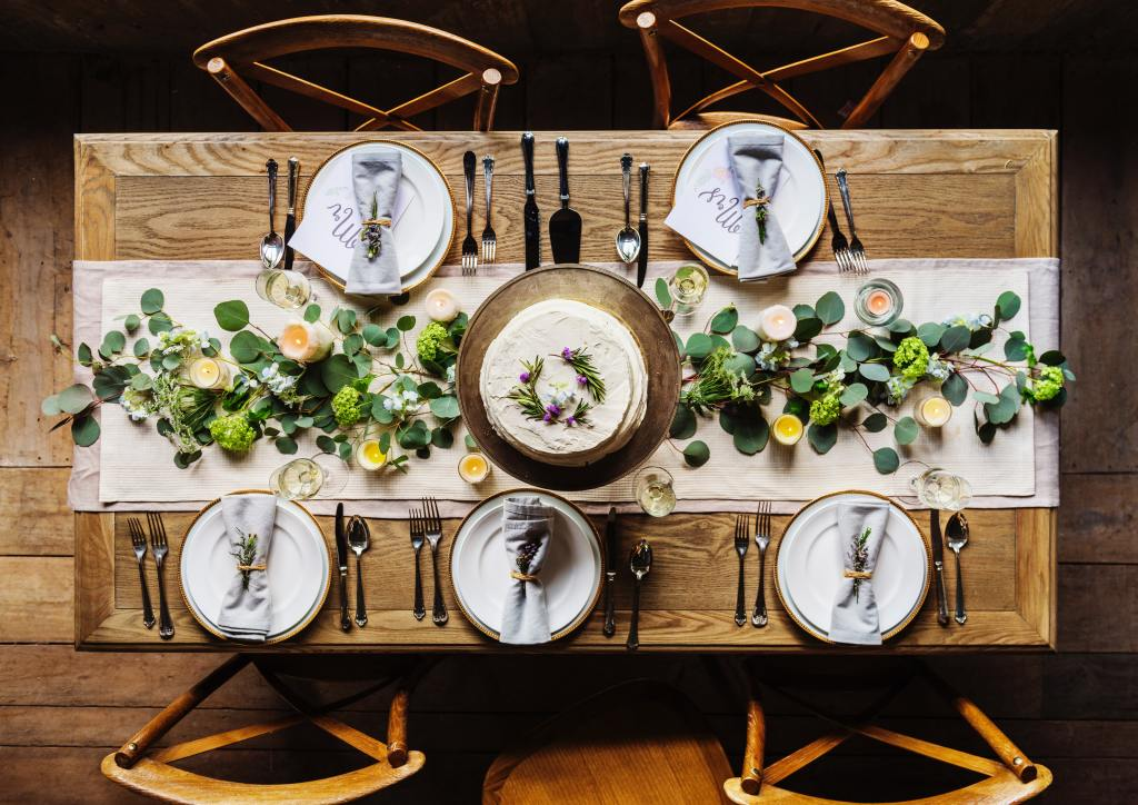 rustic table from pexels