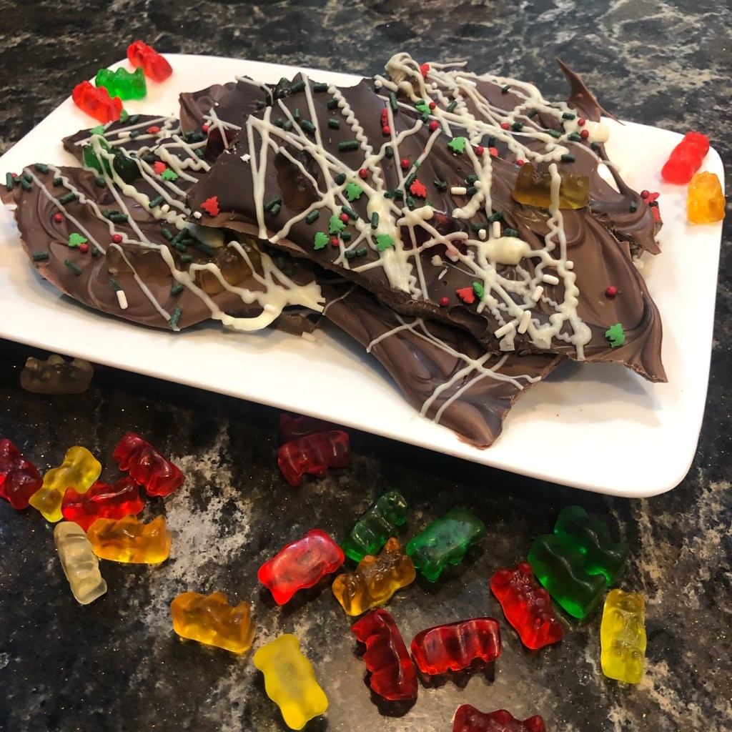 Goosebumps 2 Holiday Gummy Bear Bark