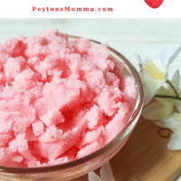 DIY Strawberry Salt Scrub