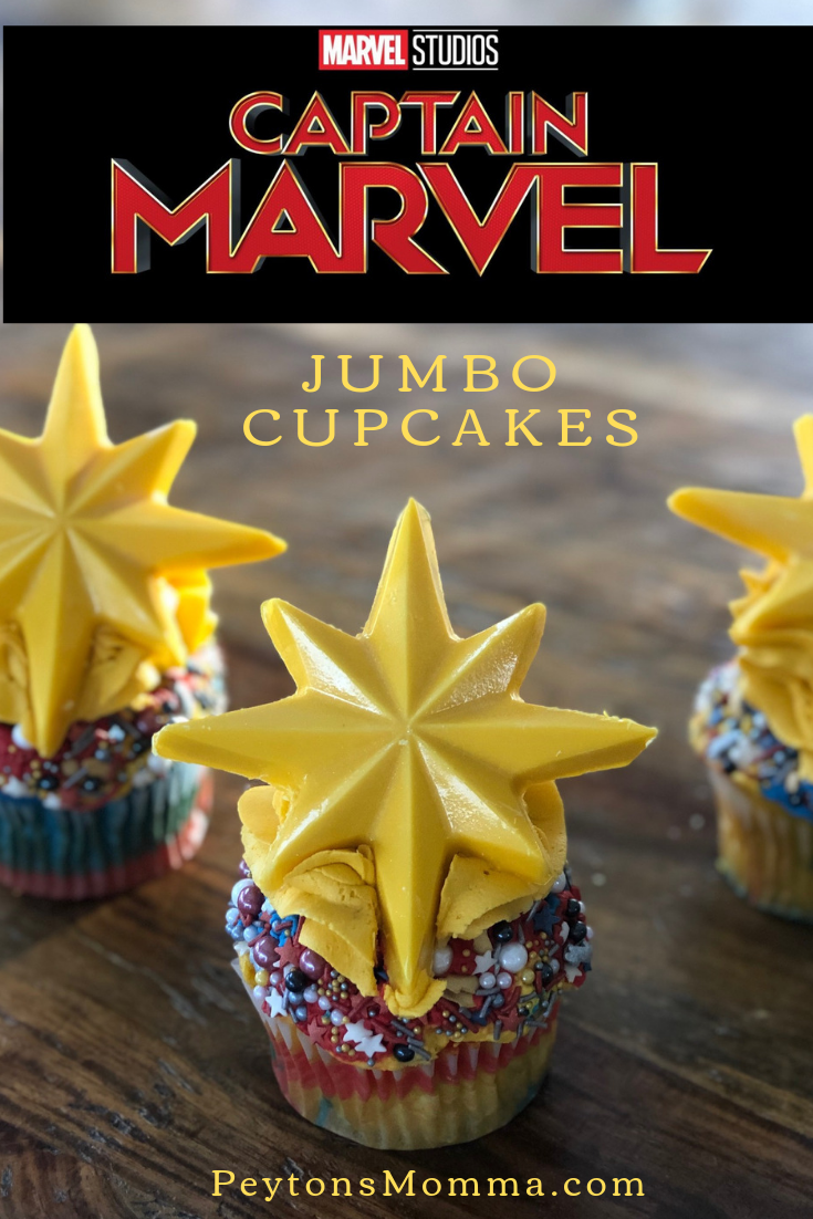 Jumbo Captain Marvel Cupcakes