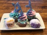 King Triton and Ursula with my Gourmet Mermaid Cupcakes