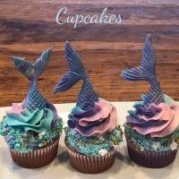 Create Your Own Mermaid Cupcakes!