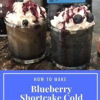 Decadent Blueberry Shortcake Cold Brew Lattes