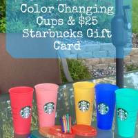 Enter to Win Starbucks Color Changing Cups & $25 Starbucks Gift Card
