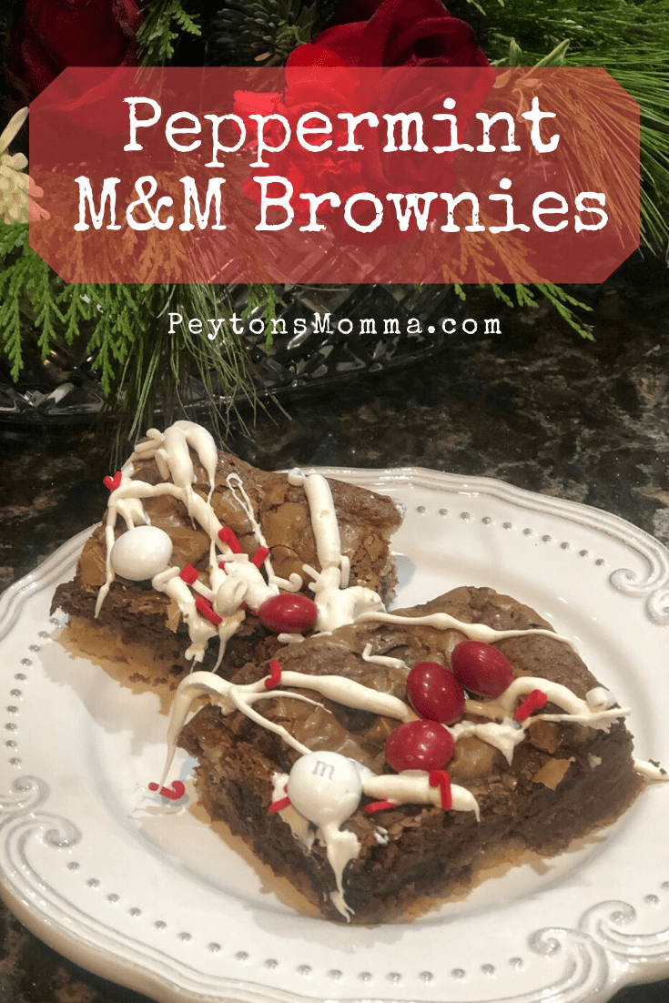Peppermint M&M Brownies - Peyton's Momma™