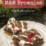 Peppermint M&M Brownies