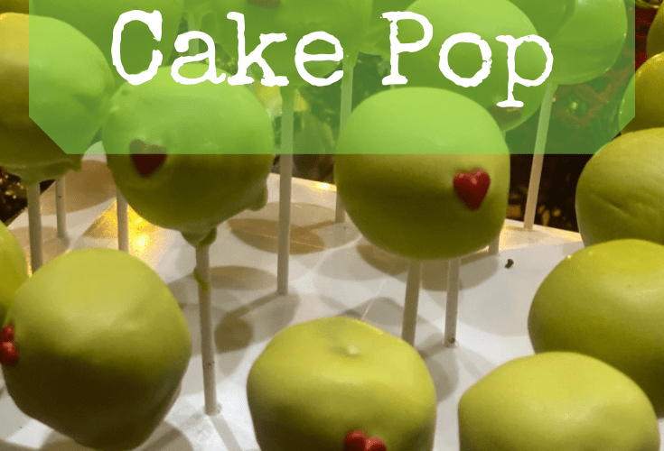 The Grinch Cake Pop