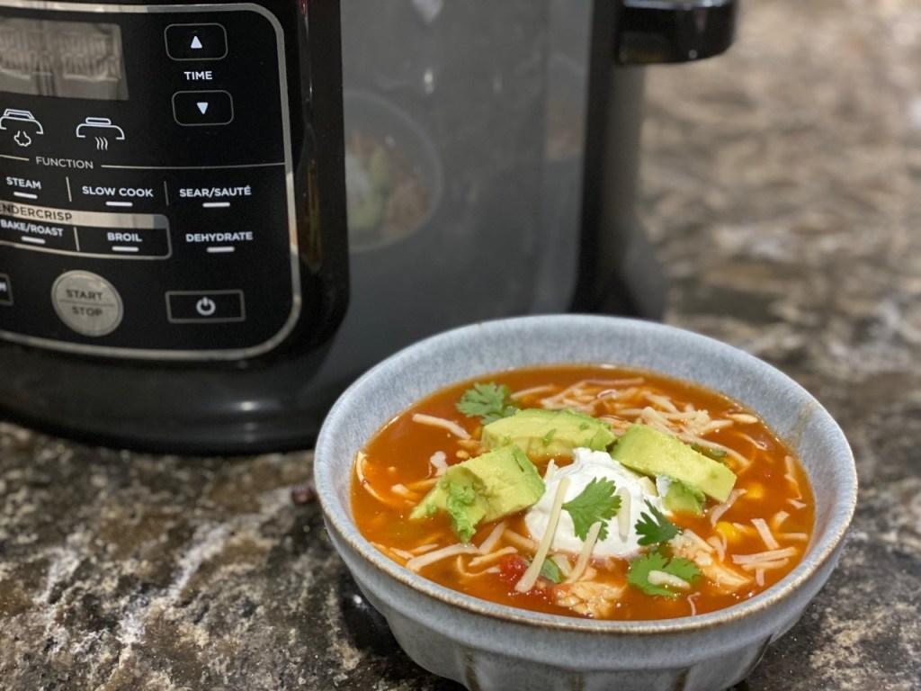 Ninja Foodi Chicken Enchilada Soup