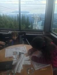Vista do restaurante lá no topo.