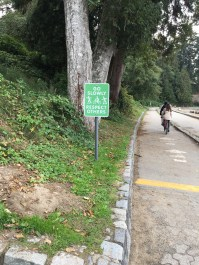 Trilhas devidamente sinalizadas no parque